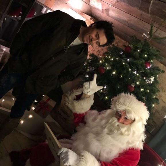 Brooklyn charmed Santa.