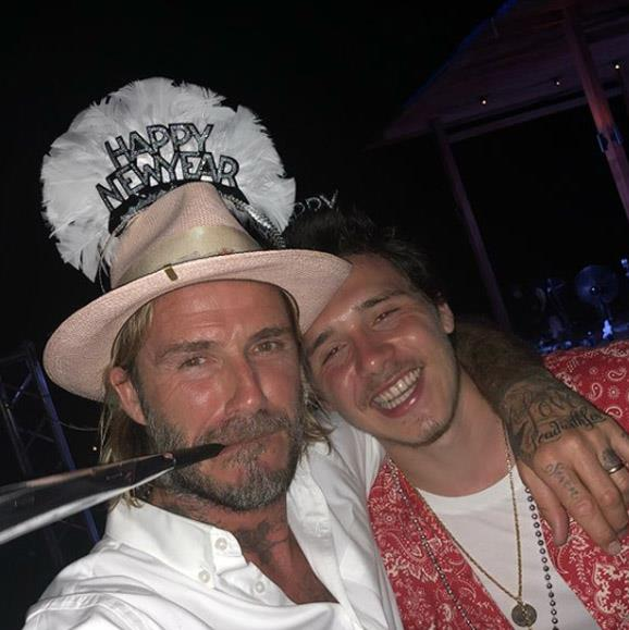 Together again! The Beckham's travelled to America where Brooklyn now lives to celebrate the new year in Miami all together.