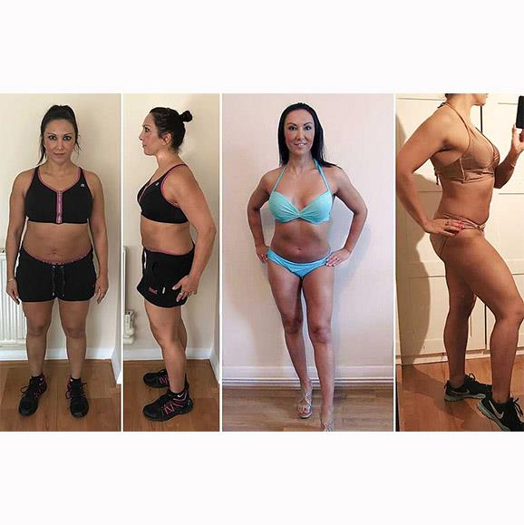 The regime really does work! Nilufer before the program on the right and after on the left.