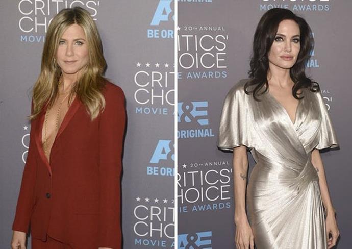 Jen and Angie at the 2015 Critics' Choice Awards.