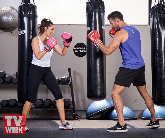 The couple that trains together, stays together.