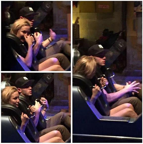 Nick likes his mature ladies! He was previously linked to Kate Hudson, 38, when a fan snapped thew pair enjoying the roller-coaster together at Disney World.