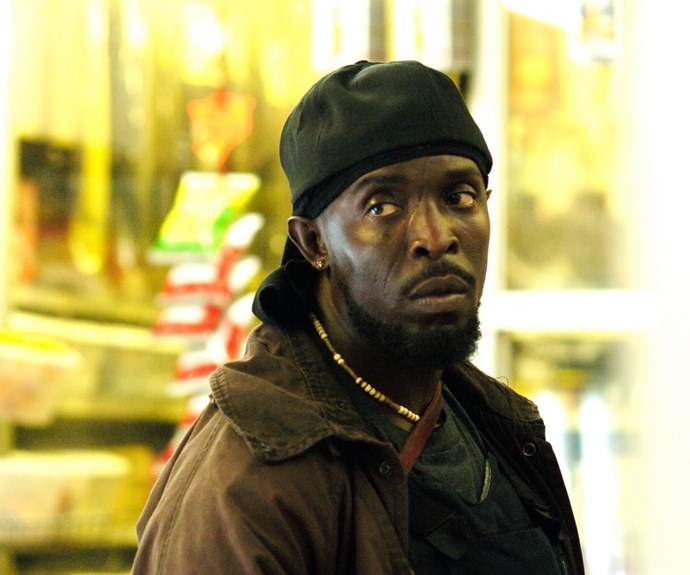 "**Omar Little – *The Wire***  Whistling ""The Farmer in the Dell"" while he stalks the streets, the mere utterance of the words name ""Omar comin'"" sends shivers down the spine of your average street-level drug dealers in Baltimore. As played by **Michael Kenneth Williams**, Omar Little is a cold-blooded killer with a strict code of ethics and a surprisingly tender side when he isn't viciously killing bad guys. Luckily, he refuses to kill the innocent but you still wouldn't want to meet him down a dark alleyway in downtown Baltimore. Even if Barack Obama named Omar his favourite character in his favourite show. ""Yo, String!"""