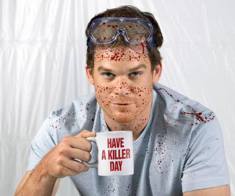 **Dexter Morgan – *Dexter***  A serial killer with a difference, Dexter Morgan (played by *Six Feet Under* star **Michael C Hall**) works for the Miami police as a blood-spatter analyst. Often investigating murders he committed himself, Dexter is in the perfect position to ensure the authorities never look his way. It helps that the sociopath is fastidious when it comes to detail, and that he only kills bad guys, especially when the court system threatens to let them off. Clinical in execution, his murder scenes and victims are glad-wrapped within an inch of their lives, quite literally, so no blood is spilled.