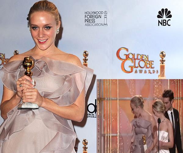 Chloe Sevigny was the victim of clumsy feet. When the actress won an award in 2010, an escort accidentally stood on her dress and ripped it.
