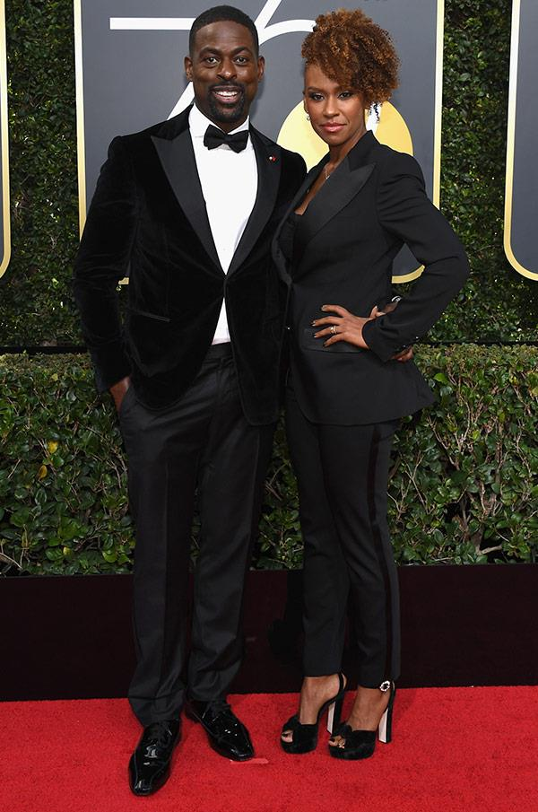 Swoon! Sterling K. Brown puts his best foot forward with his leading lady Ryan Michelle Bathe.