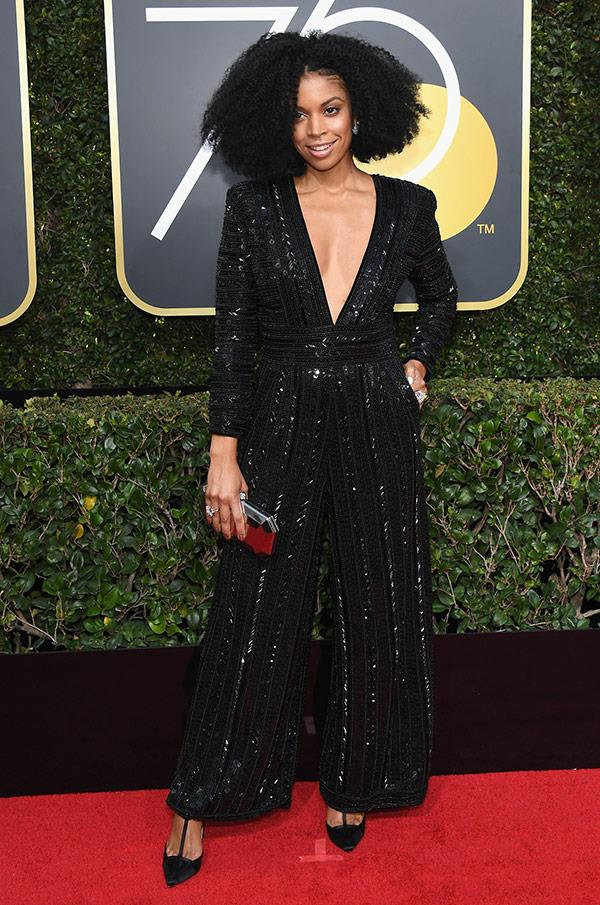 *This is Us* star Susan Kelechi Watson is rocking this plunging jumpsuit.