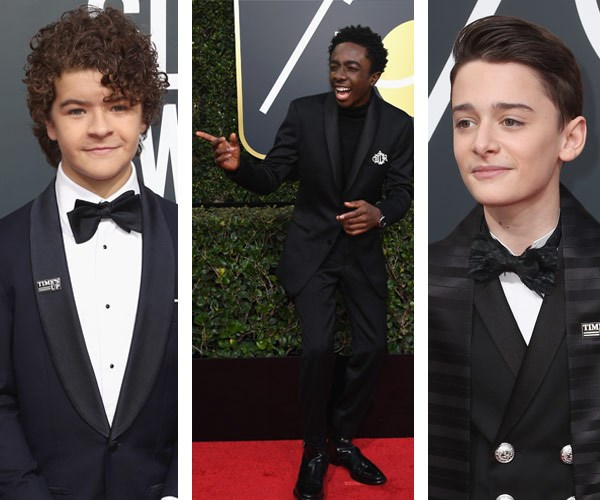 The Stranger Things boys  (L-R) Gaten Matarazzo, Caleb McLaughlin and Noah Schnapp.