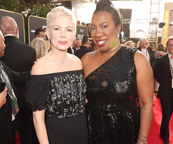 Michelle Williams with activist Tarana Burke.