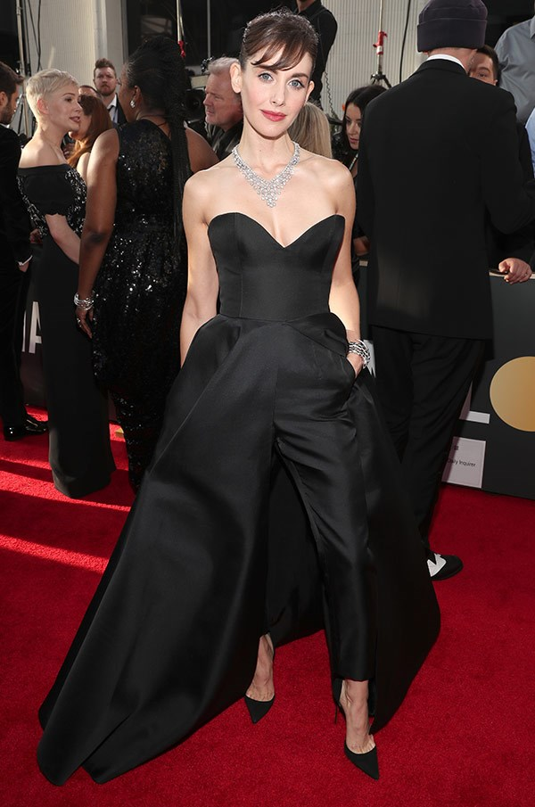 Lead actress nominee Alison Brie channels her inner Audrey Hepburn.
