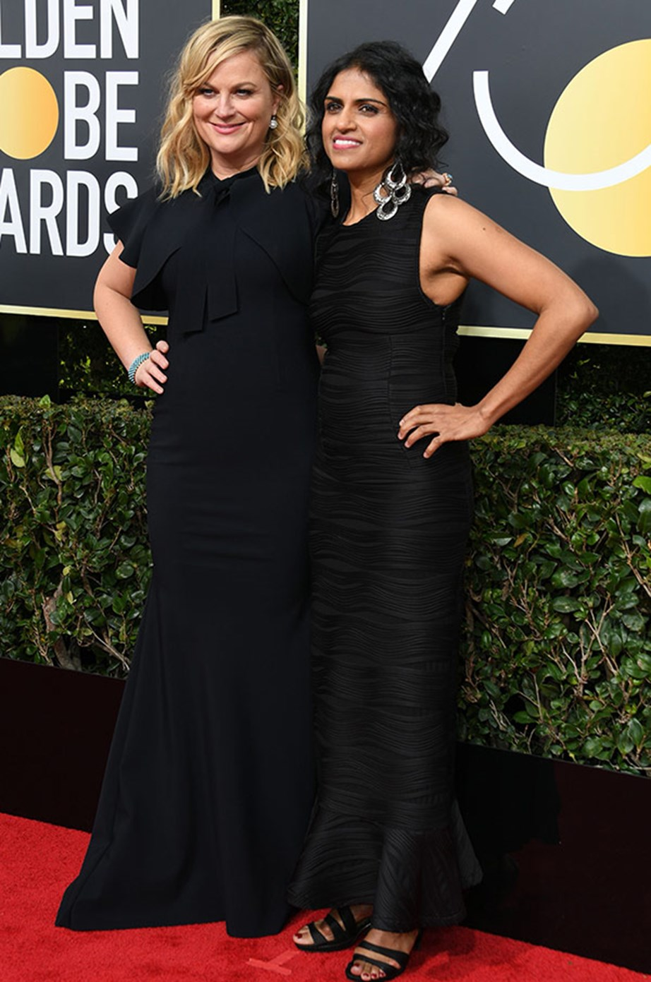 """**Amy Poehler** and Restaurant Opportunities Center United president **Saru Jayaraman**. Amy also posted on Instagram, captioning """"Me and my date Saru Jayaraman and my wife Ann Perkins [**Rashida Jones**]! Army of Queens coming for ya!"""""""