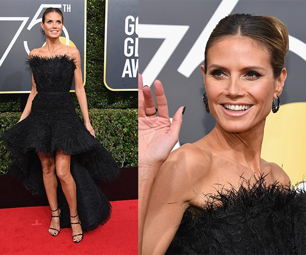 Heidi Klum proves mullet dresses can still work.