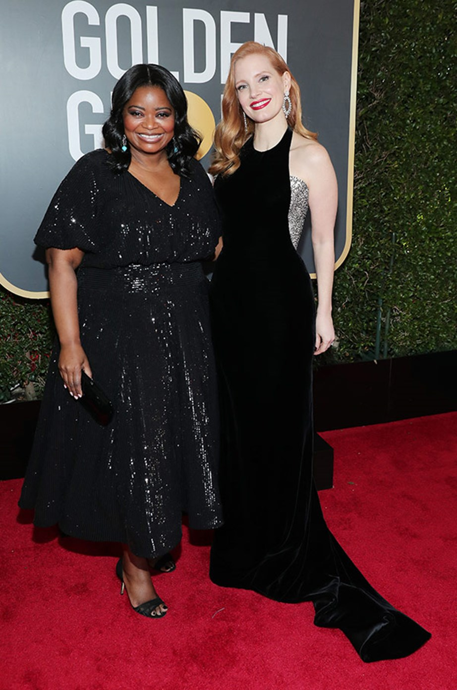 Pals **Octavia Spencer** and **Jessica Chastain** have been active supporters of the Time's Up movement from the start.
