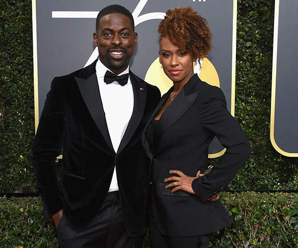 Three words that sum up Sterling K. Brown and wife Ryan Michelle Bathe's powerful, Globes' red-carpet pose: This. Is. Us.