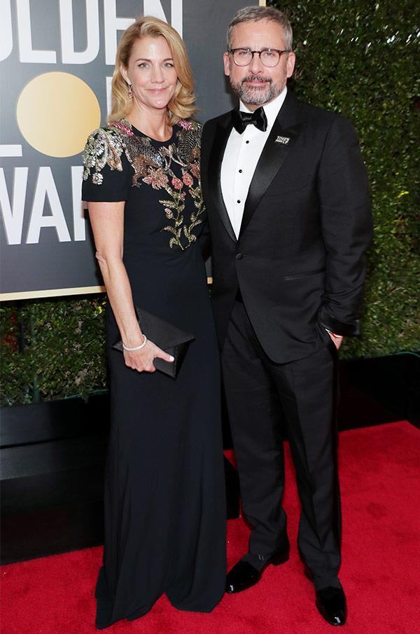 The usually hilarious couple that is Steve and Nancy Carell have shaken off their typical comedic, all-for-laughs looks for a striking, yet serious camera stare. Because this isn't any old Dinner For Schmucks, people - it's the Golden Globes!