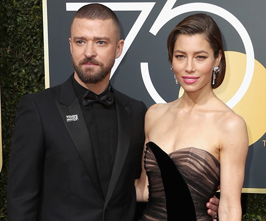 """And the star says she couldn't have done it without the love and support from her husband, Justin Timberlake. """"This man held out family together,"""" she told Ryan Seacrest."""