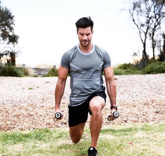 """**Sam Wood, 37,** ***The Bachelor S3*** Heading off on holiday with the family this summer? Don't fear because personal trainer Sam is here!  If you're trying to chisel a bulletproof beach bod, Sam says motivation is key.  """"When it comes to exercise, do something you love,"""" he advises. """"Mix it up, because that will make all the difference – and keep it short and sharp."""""""