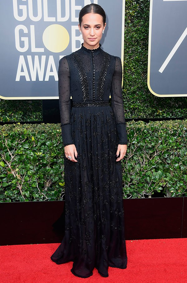 Fun fact: Alicia Vikander just revealed her friend's little daughter keeps her Oscar in her bedroom!