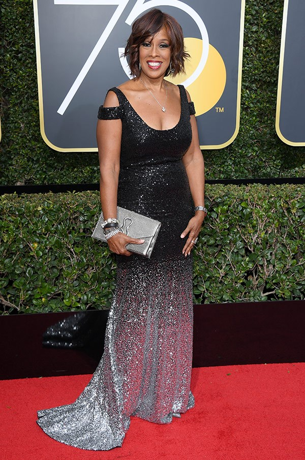 Gayle King packs a punch with this sparkly dress.