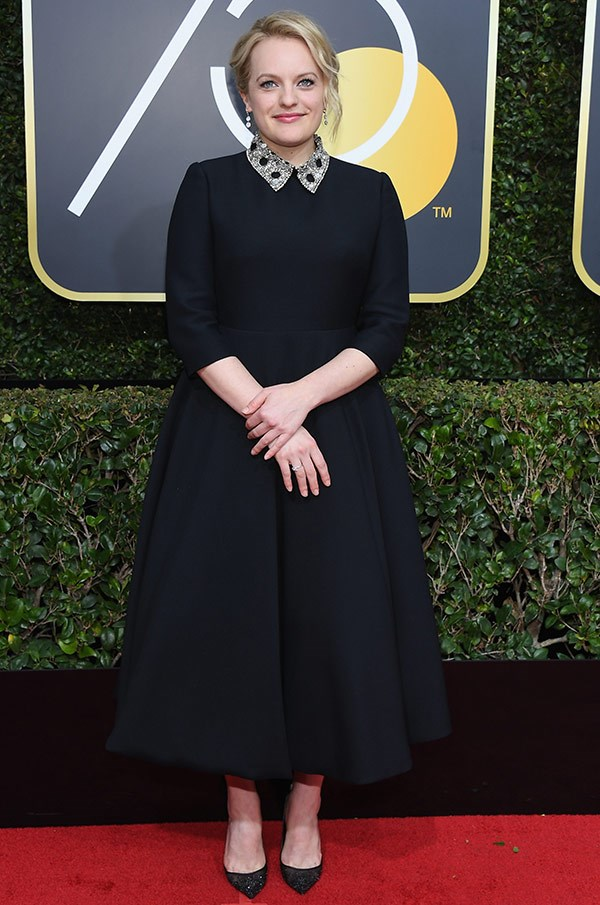 Elizabeth Moss, who is nominated for an award for her role in A Handmaid's Tale.