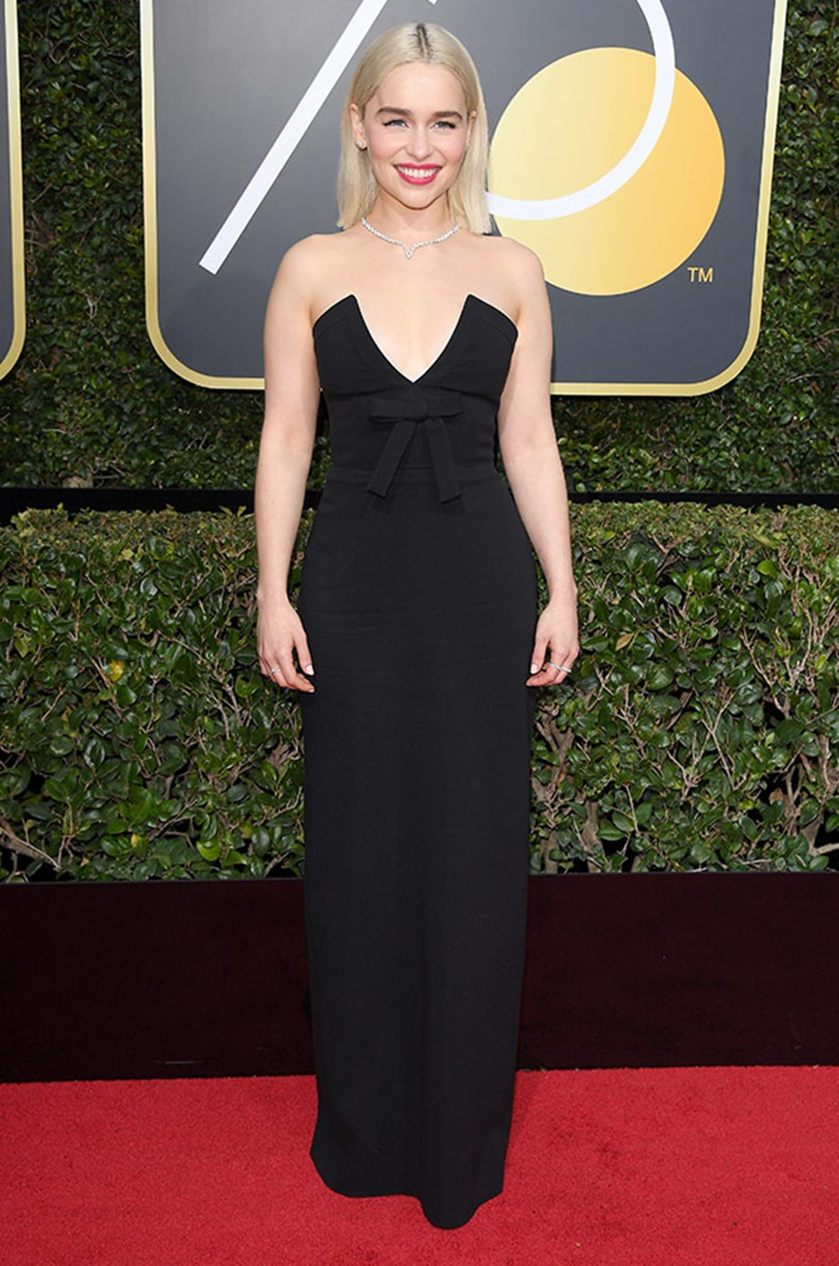 Emilia Clarke joined the celebrity masses in wearing black as a silent protest.