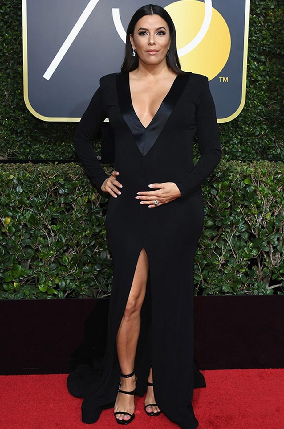 Eva Longoria Bastón at the Golden Globe Awards.
