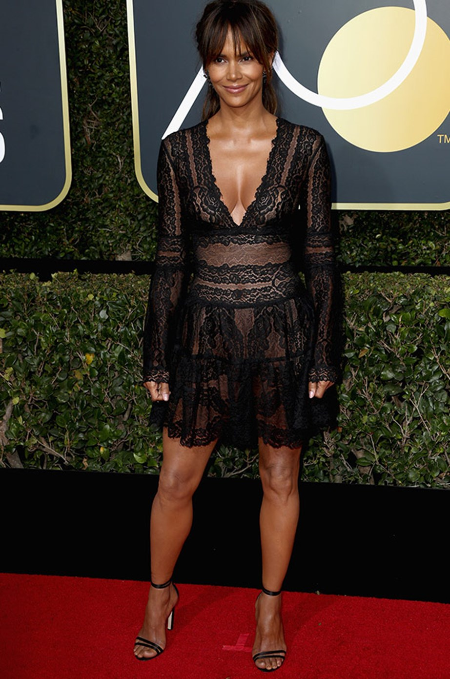Halle Berry as stunning as ever in this lacy number.