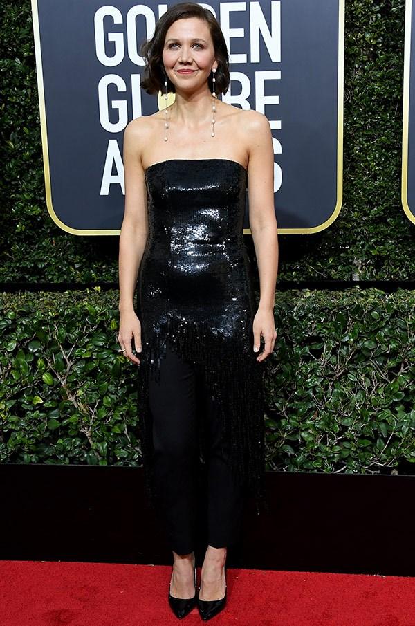 A glittery vision Maggie Gyllenhaal.