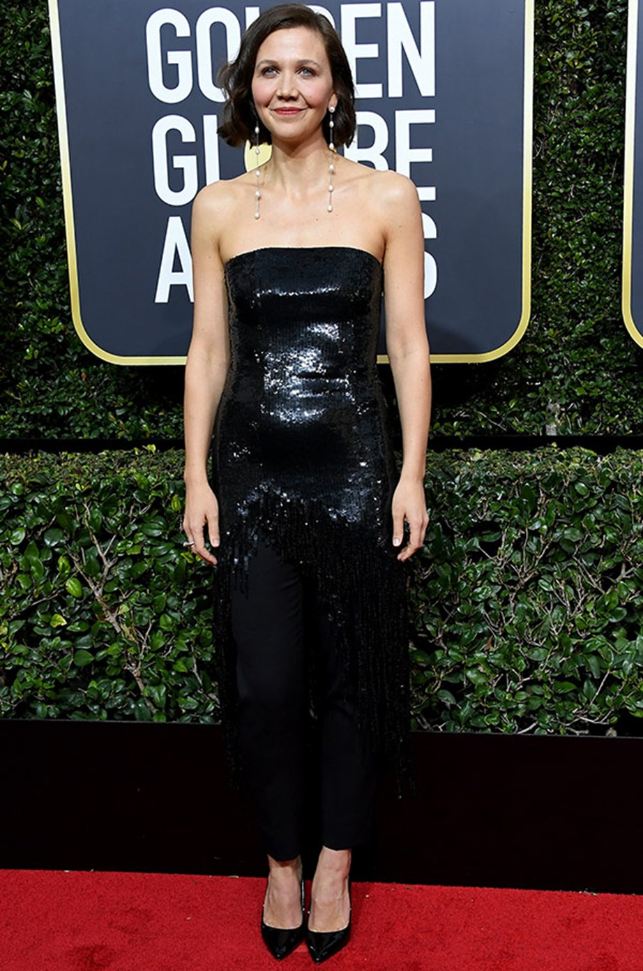A glittery vision Maggie Gyllenhaal.