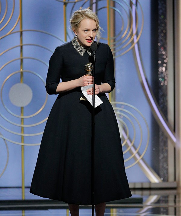 Elizabeth Moss picks up the Best Performance by an Actress in a Television Series - Drama for *Handmaid's Tale*.