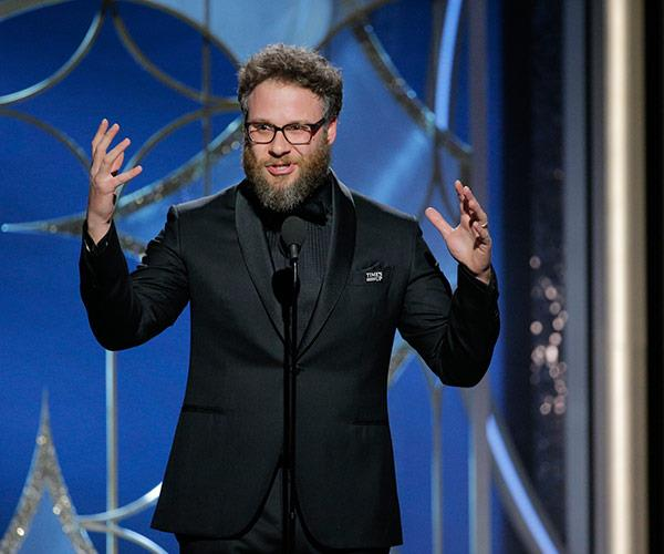 Funnyman Seth Rogen introduces a teaser for his nominated film, *Disaster Artist*.