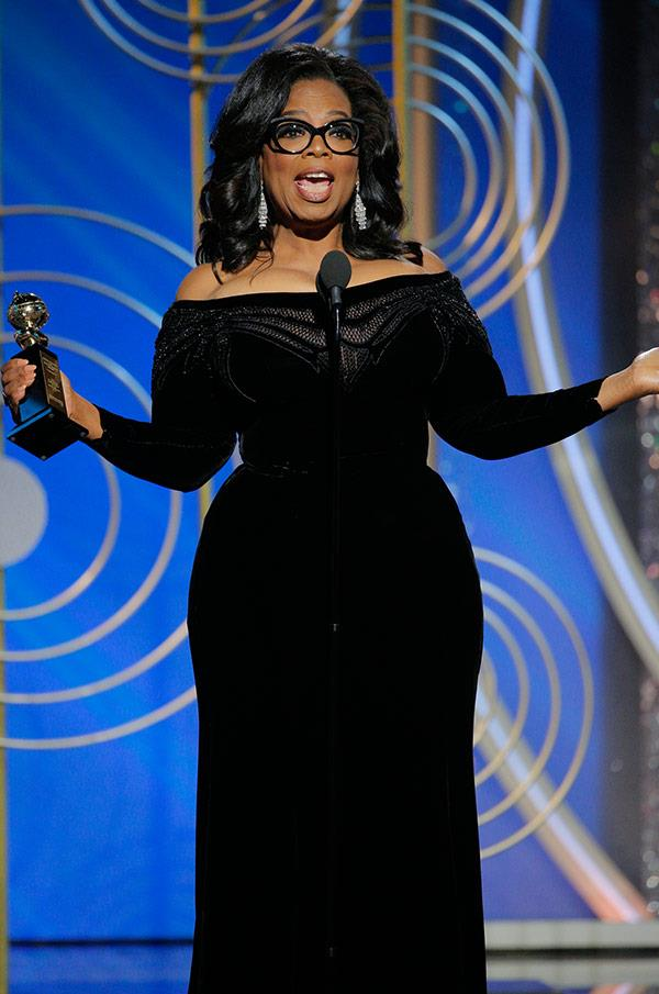 """It is not lost on me that, at this moment, there is some little girl watching as I become the first Black woman to be given the same award. It is an honour and it is a privilege to share the evening with all of them,"" the 63-year-old said [during her stirring speech.](https://www.nowtolove.com.au/celebrity/tv/oprah-winfrey-goes-peak-oprah-golden-globes-2018-cecil-bdemille-award-44053