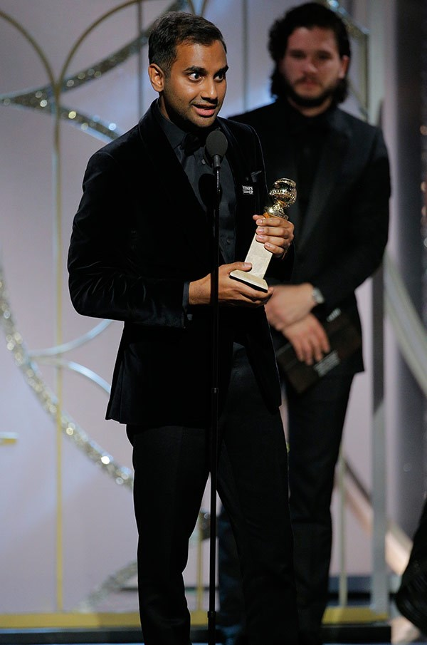 """I genuinely didn't think I was gonna win cause all the websites said I was going to lose. That would've been s—-y if I had lost two years in a row,"" *Master of None* genius Aziz Ansari joked during his acceptance speech for Best Comedy Actor in a TV Series."