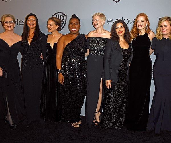 The black carpet is still reigning supreme at the Golden Globes after parties.