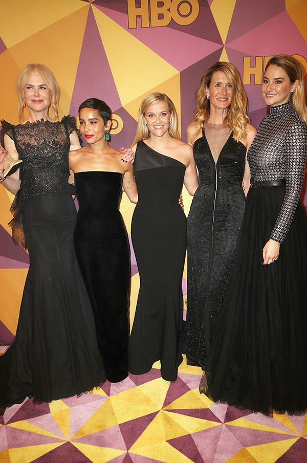 If anyone deserves to let the good times roll it's the cast of the night's stand-out show, *Big Little Lies*, who cleaned up at the ceremony.