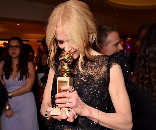 Winners are grinners, right Nicole Kidman?