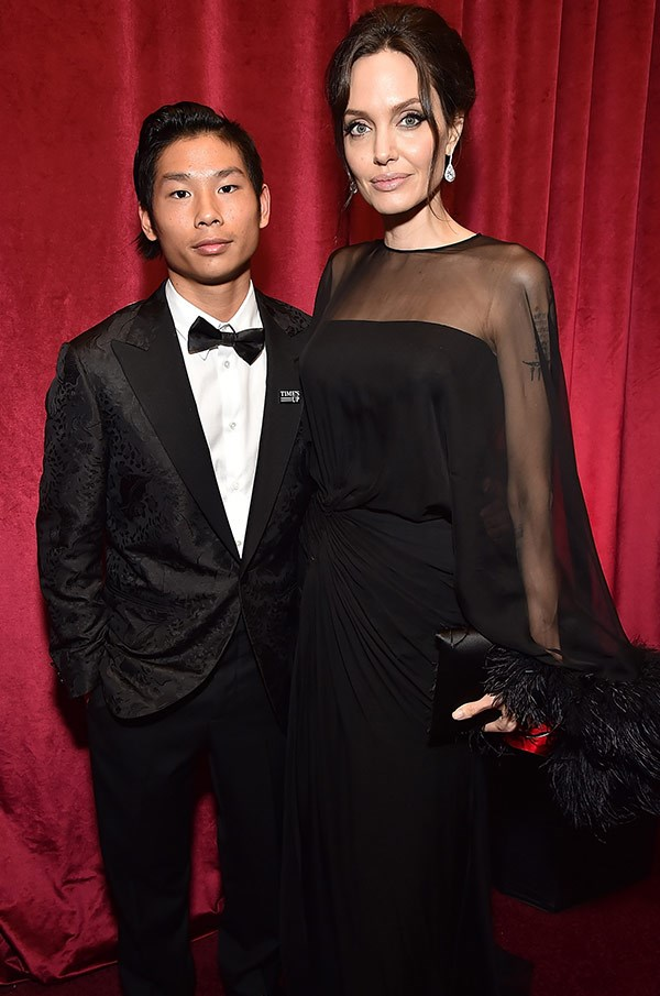 Angelina Jolie and her date for the night, son Pax.