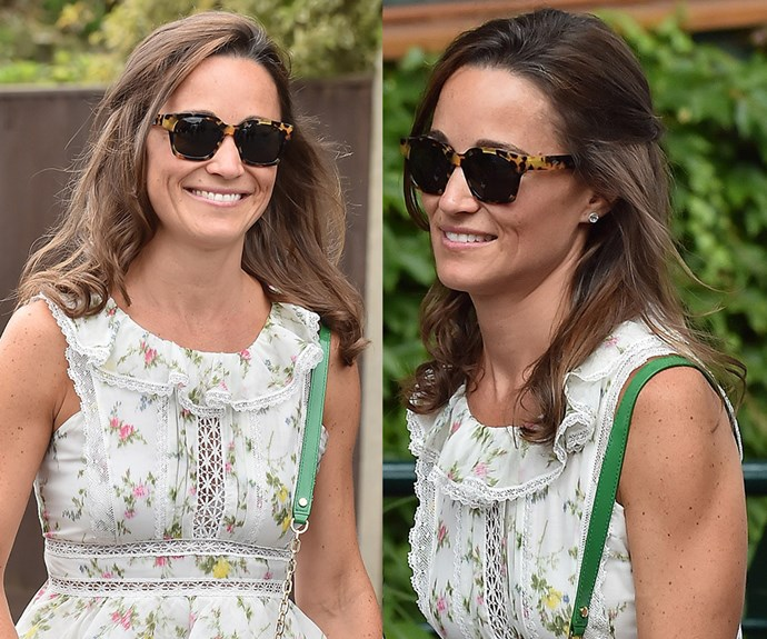 "**Pippa Middleton's** curly ends give her look a distinct holiday feel — the best way to prolong that summer lovin' feeling. Want in? Use some medium-sized hot rollers (try [Remington Pro Shine Hot Rollers](https://www.priceline.com.au/remington-pro-shine-hot-rollers-1-kit|target=""_blank""