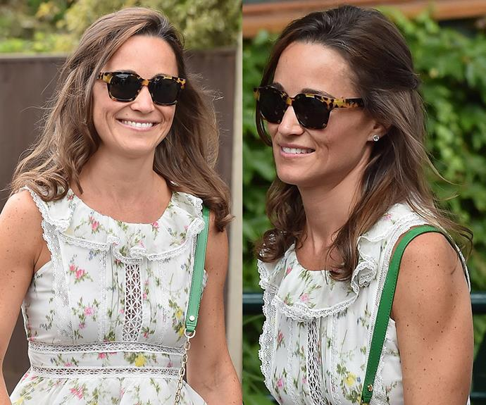 """**Pippa Middleton's** curly ends give her look a distinct holiday feel — the best way to prolong that summer lovin' feeling. Want in? Use some medium-sized hot rollers (try [Remington Pro Shine Hot Rollers](https://www.priceline.com.au/remington-pro-shine-hot-rollers-1-kit