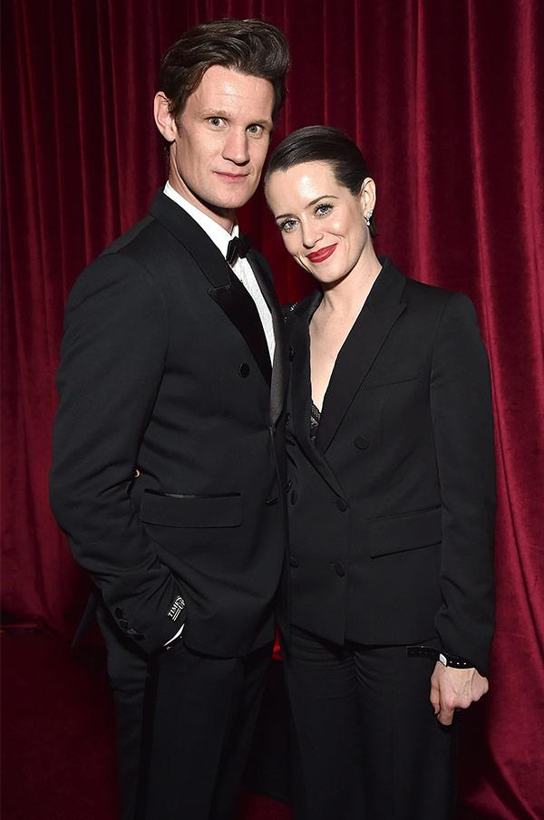 Reigning the partying scene Matt Smith and Claire Foy.