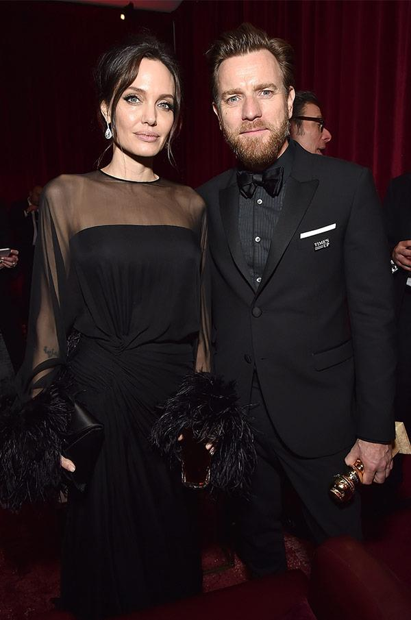 Another close call! Angelina Jolie and Ewan McGregor were at the same bash.