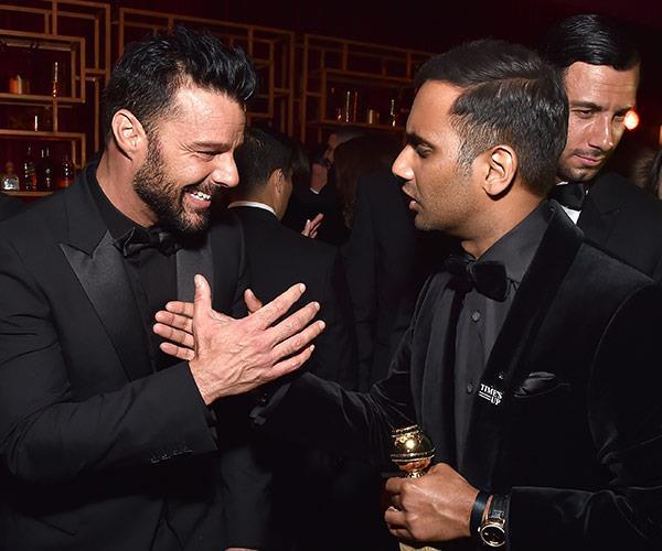 Oh maria maria, Ricky Martin hangs with Aziz Ansari.