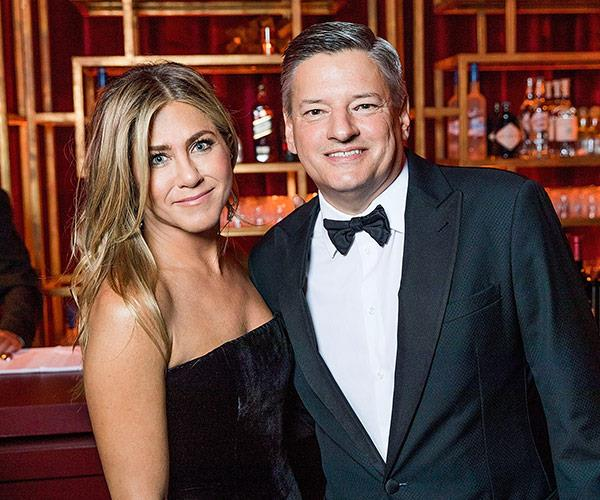 Jennifer Aniston and Netflix Chief Content Officer, Ted Sarandos partied at the Netflix Golden Globes after party...