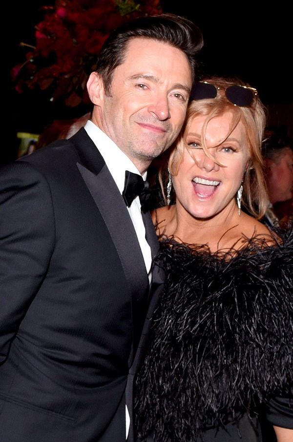 Hugh Jackman may have lost to James Franco in the Best Actor in a Motion Picture Musical or Comedy category, but that didn't stop the Aussie hunk and his wife having a very good time at the Fox after party.