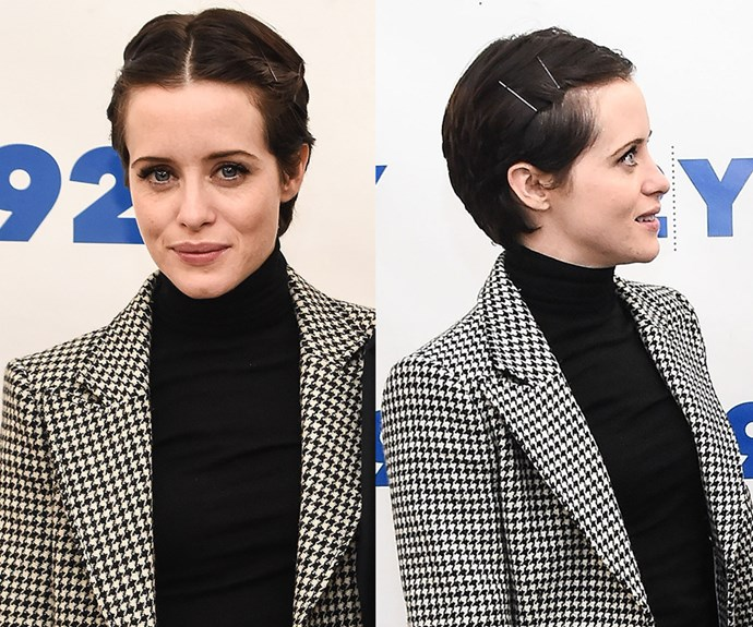 "[*The Crown*'s **Claire Foy**](https://www.nowtolove.com.au/celebrity/tv/the-crown-season-2-what-to-expect-set-secrets-43443|target=""_blank"") demonstrates how to stylishly grow out a summer fringe with her side-pinned crop. Follow suit by twisting a fringe (or sections of your hair) to the side and pin back with bobby pins. Jazz up the look with coloured or metallic hair slides like [Kitsch Straight Bobby Pins](https://www.mecca.com.au/kitsch/straight-bobby-pins/I-024081.html