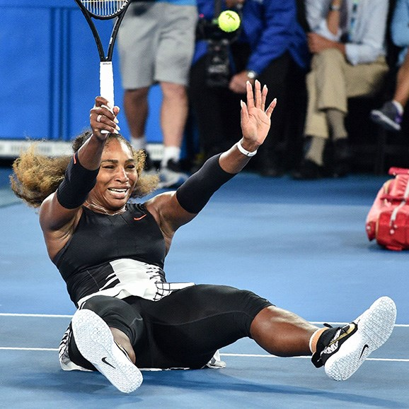 Superwoman Serena made history when she won the Australian open in 2017, while eight weeks pregnant.