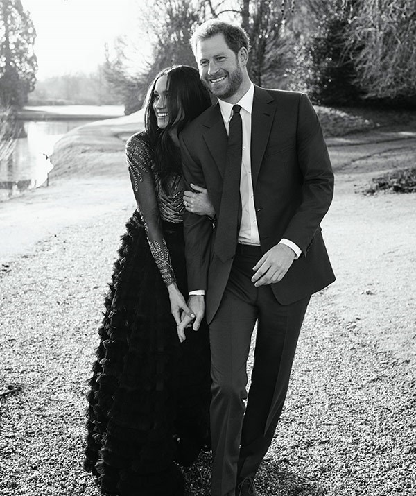 "Designed by British-based Australian couturiers Ralph & Russo, the gown worn by Meghan for her [official engagement photographs](https://www.nowtolove.com.au/royals/british-royal-family/meghan-markle-and-prince-harry-engagement-photo-shoot-43822|target=""_blank"") sold out online as soon as pictures of Meghan wearing it hit the web."
