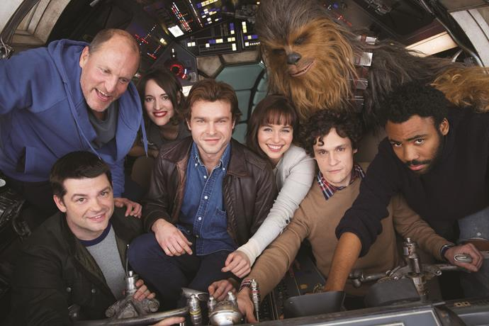 ***Solo: A Star Wars Movie*** **(in cinemas May 24)** *Rogue One* proved that *Star Wars* spin-off stories could actually work. And on paper at least, a film about Han Solo, one of the franchise's favourite characters, is a no-brainer. The adventure stars Han (Alden Ehrenreich) as a young smuggler. Woody Harrelson plays Beckett, his mentor, and Donald Glover portrays a youthful Lando Calrissian.