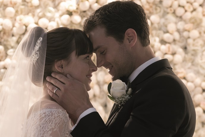***Fifty Shades Freed*** **(in cinemas February 8)** Are you ready for the biggest slice of sizzle this side of an Aussie barbie? Well, brace yourself for the final film in the raunchy *Fifty Shades* trilogy. Christian (Jamie Dornan) and Ana (Dakota Johnson) are now married, but that doesn't mean their relationship has lost that special spark. There are challenges for the couple, however, with Ana's former boss, Jack Hyde (Eric Johnson), swearing revenge on her. And Elena (Kim Basinger) returns to make Christian and Ana's lives hell. Expect the trilogy to go out with a… er, bang!