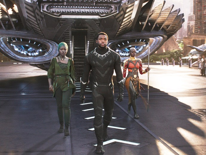 ***Black Panther*** **(February 15)** He first made an appearance in *Captain America: Civil War* but Black Panther is finally getting his own spin-off. The story centres on T'Challa (the Black Panther, played by Chadwick Boseman) who returns home to a technologically advanced African nation and take his place as its rightful king after the death of his father.